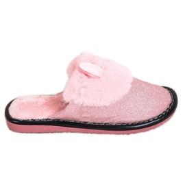 Bona Glitter hjemmesko med skader pink