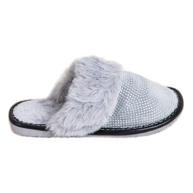 Bona Komfortable hjemmesko med pels grå