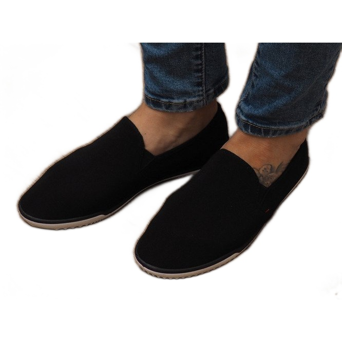 Lycra D16M Sort Slip-On Sneakers