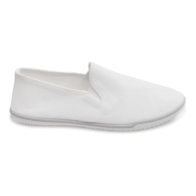 Lycra BL181-2 Hvide Slip-On Sneakers
