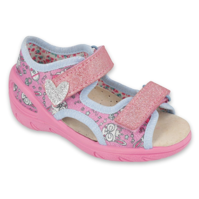 Befado børnesko pu 065X147 pink sølv grå