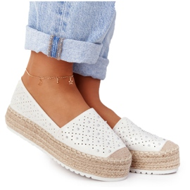 S.Barski Espadrilles On The Straw Platform S. Bararski White hvid