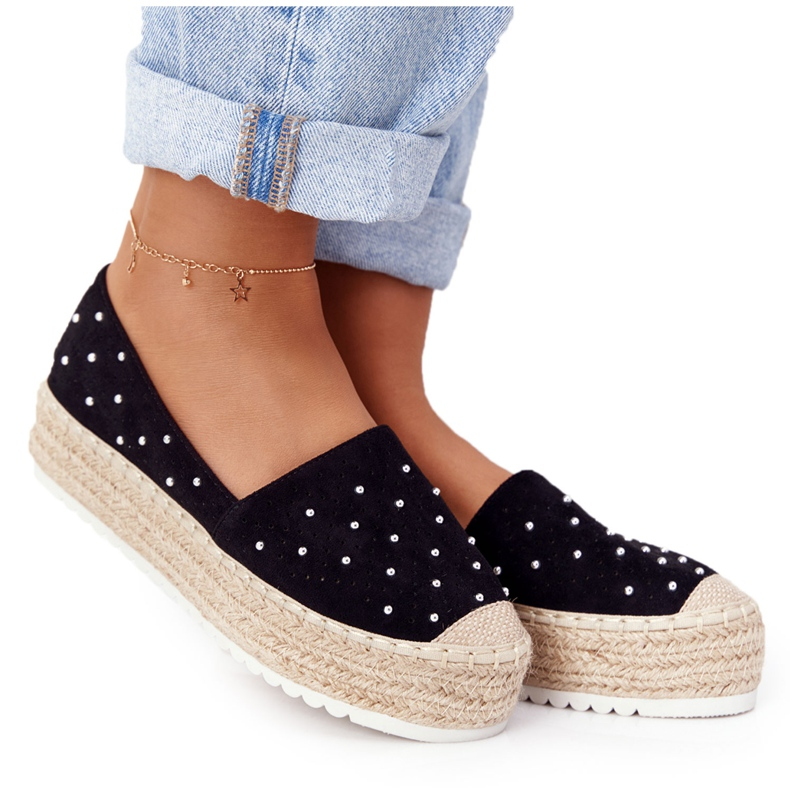 S.Barski Espadrilles On The Straw Platform S. Bararski Black sort