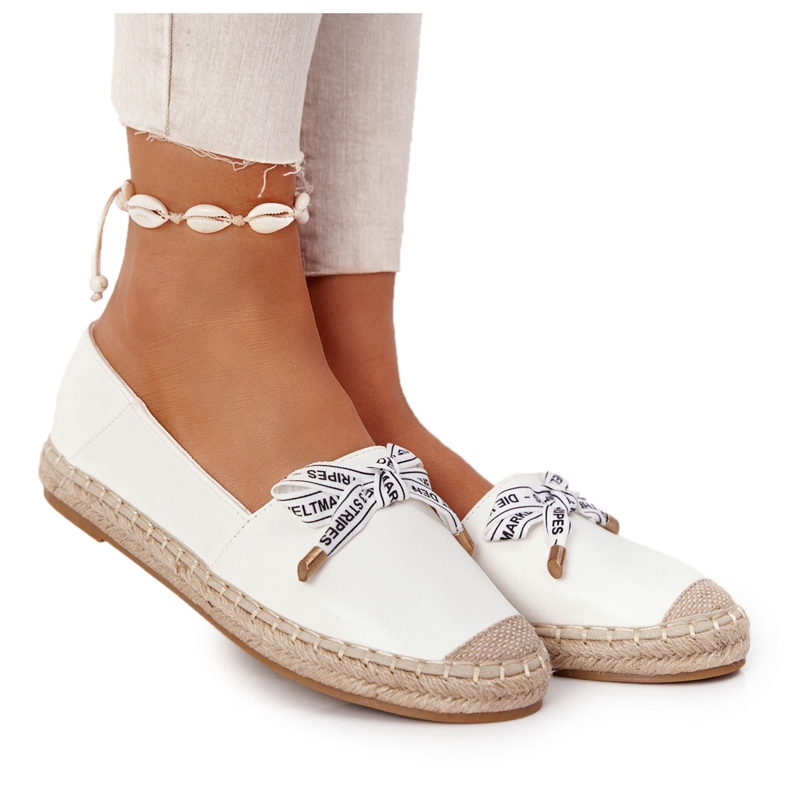 S.Barski Espadrilles On Straw Sole S. Bararski White hvid