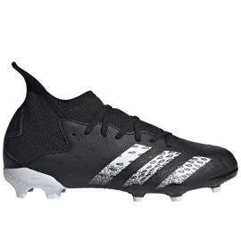 Adidas Predator Freak.3 Fg Junior FY1031 fodboldstøvler sort sort
