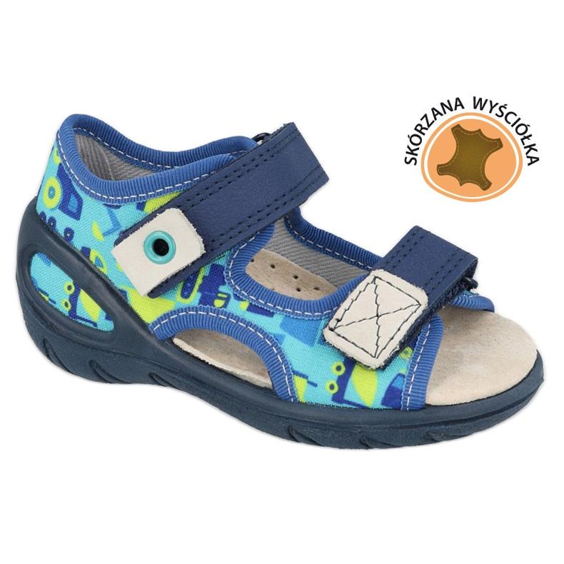 Befado børnesko pu 065X156 marine blå blå grøn