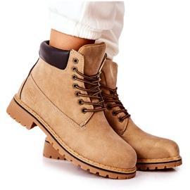 PH1 Kvinders Beige Crush varme støvler brun