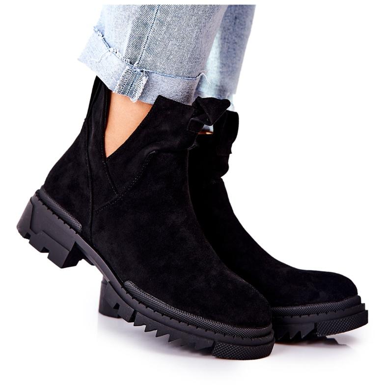 POTOCKI Sorte Corano støvler med lynlås
