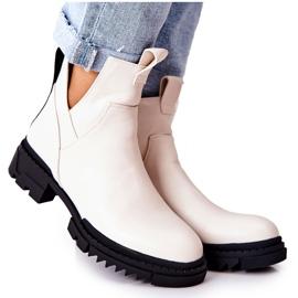 POTOCKI Hvide Corano støvler med lynlås