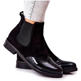 Læderstøvler Laura Messi Sort 2096