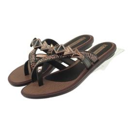 Ipanema brun Flip flops kvinders sko med Grendha sten