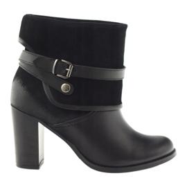 Sort klassiske kvinders sko vintersko Edeo 1754