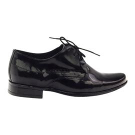 Sorte lakeret børns sko Gregors 429