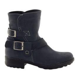 Kvindelige vinter støvler Gregors 544 navy blue