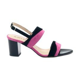 Sandaler til kvinder Sagan 2687 black fuchsia