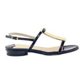 Kvinders sandaler guld dekoration Sagan 2698
