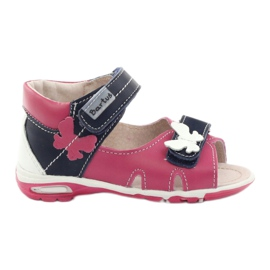 Piger sandaler - sommerfugl Bartuś pink