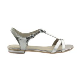 Kvinders sandaler EDEO wz.3087 sølv grå