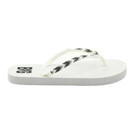 Kvinders flip-flops Big Star 274A549 hvid