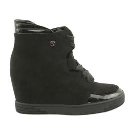 Sergio Leone Støvler. Sneakers med lynlåsbue sort