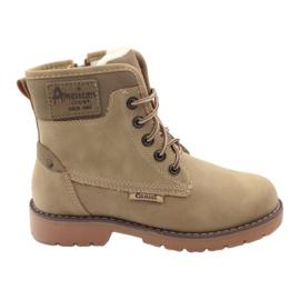 American Club Vinter støvler, støvler, støvler, skyder American 1904, beige brun