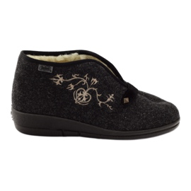 Befado kvinders sko tøfler med pels 031d028 grå