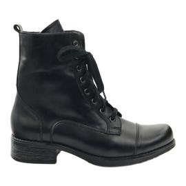 Støvler med Angello 2060 lynlås sort