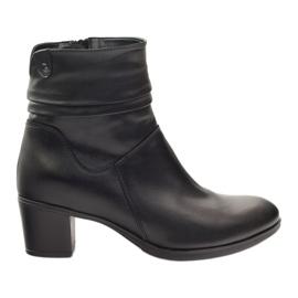Sort Læder støvler Gregors 614