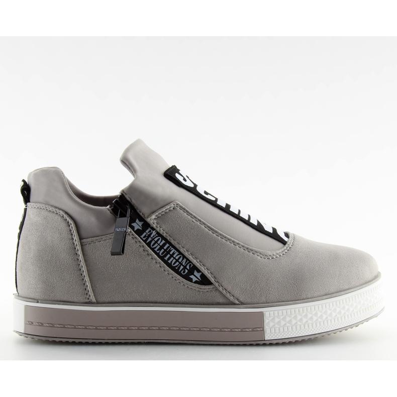 Grå platform sneakers NB168 grå