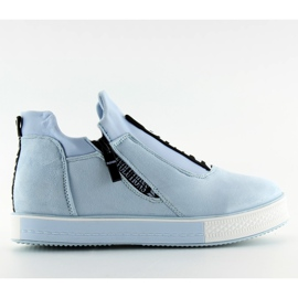 Blå NB168 platform sneakers. Blå
