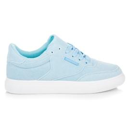 Sneakers på platformen blå