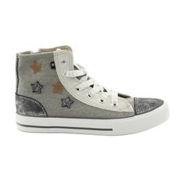 Grå Sneakers bundet i Big Star 374068