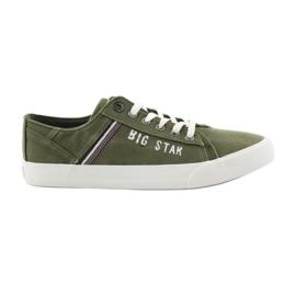 Big Star Store stjerne sneakers 174315 khaki sneakers grøn