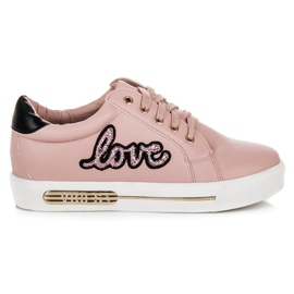 Vices Lace-up Love Sneakers pink
