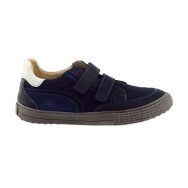 Navy Drenge sko, velcro Bartuś, marineblå