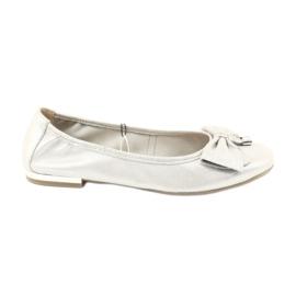 Caprice ballerinas sko 22111 sølv grå