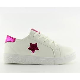 343-Y Røde kvinders sneakers hvid