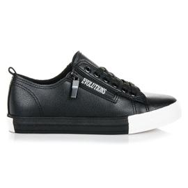 Sneakers på platformen sort
