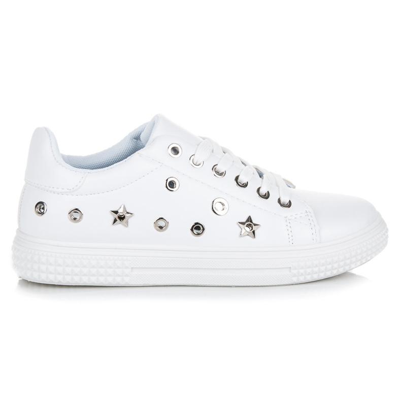 Hvide sneakers stjerner