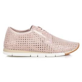 Kylie pink Trendy Tied Sneakers