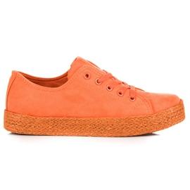 Kylie Orange Sneakers Espadrilles appelsin