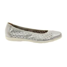 Caprice kvinders sko ballerinas 22151 læder grå