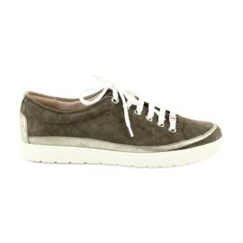 Caprice kvinders sko læder sneakers 23654 grøn