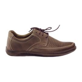 Brun Riko mænds sko med perforerede sko 848