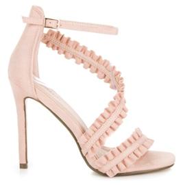 Seastar Sandaler High Heels With A Frill pink
