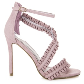 Seastar Sandaler High Heels With A Frill lilla