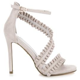 Seastar grå Sandaler High Heels With A Frill