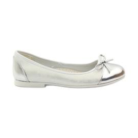 American Club Ballerinas sko med en amerikansk bue hvid