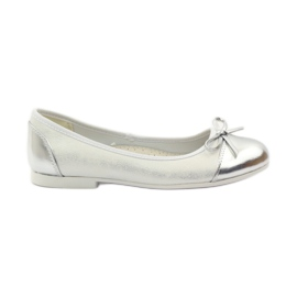 American Club hvid Ballerinas sko med en amerikansk bue
