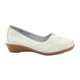 Læder sko Vinceza moccasins hvid